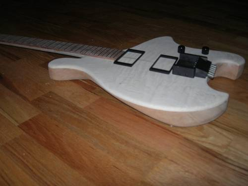 Guitar Body side view