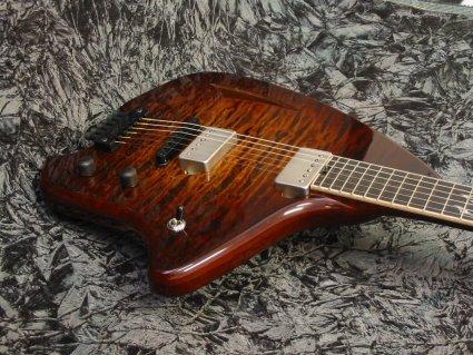 Forshage Hollow Body Guitar Closeup