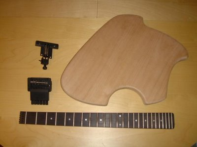 Klein Electric Guitar Build Body Neck Bridge
