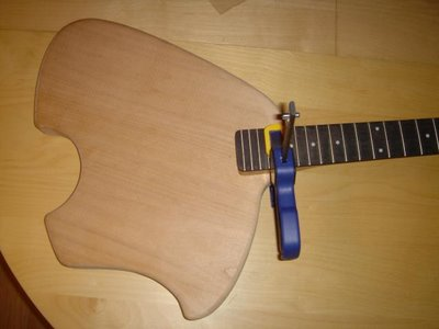 Klein Electric Guitar Build Body Neck Clamped