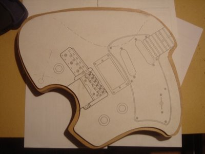 Klein Electric Guitar Body Template