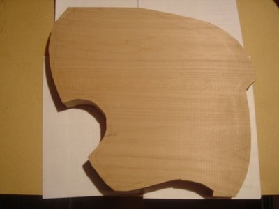 Rough Cut Guitar Body