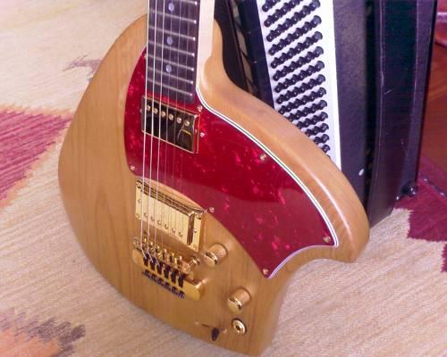 Short Scale Klein Guitar Closeup