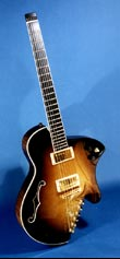 Koll Archtop Headless Electric Guitar Front