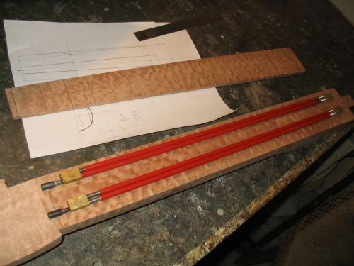 Double Truss Rods for Neck