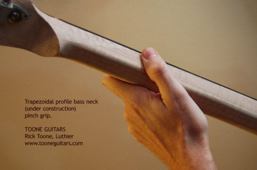 Trapezoidal Bass Neck Rock Grip